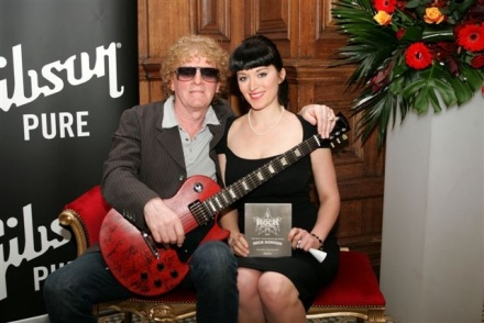 Ian Hunter with Mick Ronson's Daughter