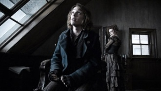 Jamie Campbell Bower movie still from Sweeney Todd