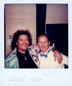 Martin Barre (L) with Leslie West (R)