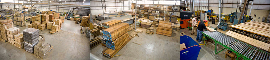 Gibson USA Rough Mill and Stacks of Cut Wood