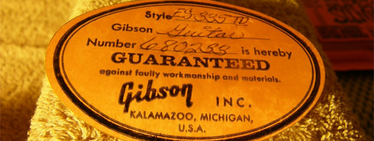 Gibson Serial Number Search