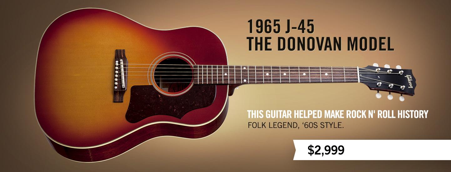 gibson guitar 1965 j 45 the donovan model. Black Bedroom Furniture Sets. Home Design Ideas