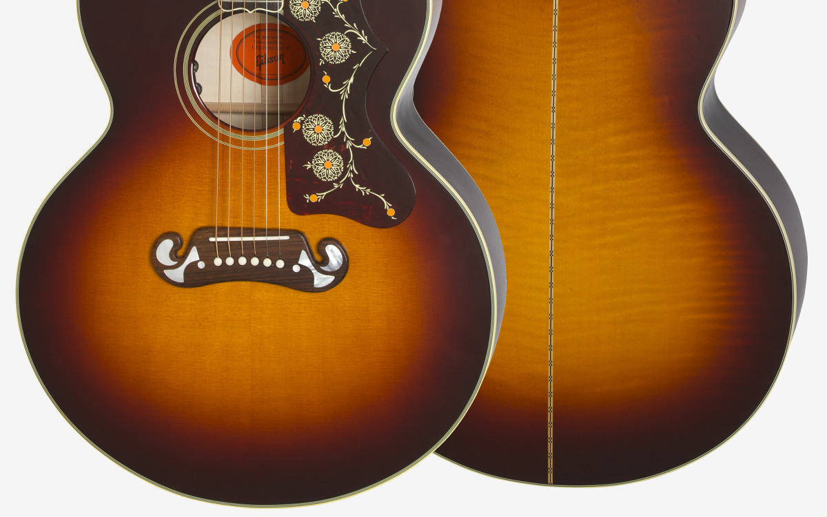 Wood Species Sitka Spruce With Flame Maple Finish Nitrocellulose