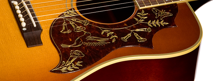 gibson acoustic 50th anniversary 1960 hummingbird. Black Bedroom Furniture Sets. Home Design Ideas