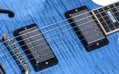 Gibson Memphis Es 335 Figured Indigo Blue