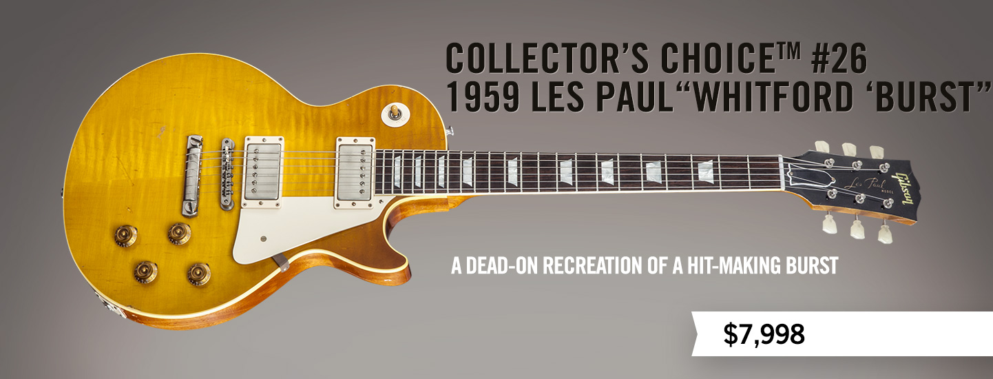 """Collector's Choice™ #26 1959 Les Paul """"Whitford 'Burst"""""""