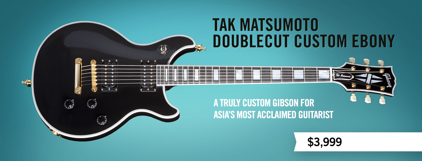 Tak Matsumoto Doublecut Custom Ebony